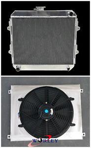 Radiator & Shroud for TOYOTA HILUX RN85 YN85 22R 2.4L Petrol Manual 1991-1997