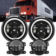 For Freightliner Century Class 7'' LED Projector Headlight Hi/Lo & 4'' Fog Light