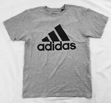 Adidas Men's Shirt The Go To Tee Cotton Shirt Heather Gray Black BU3651 Size 2XL