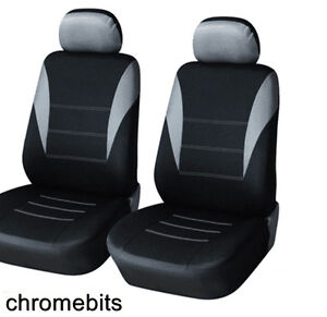 Opel Vauxhall Corsa C D Meriva Astra G H J Front Grey Black Fabric Seat Covers