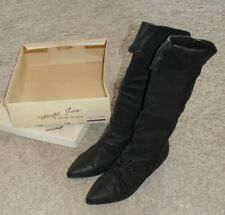 New Womens Mister Shoes by Markon Footwear Sz 6.5 B Black Leather Boots
