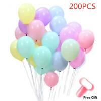 200PCS Multicolor Candy Color Balloon Birthday Wedding Party Home Decor Balloons