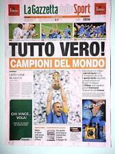 Quadro con stampa prima pagina Gazzetta dello sport 10 Luglio 2006 Campioni
