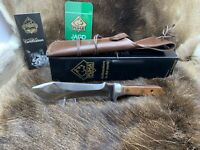 Puma 12 6390 Automesser Knife With Plumwood Handles & Leather Sheath Mint Box
