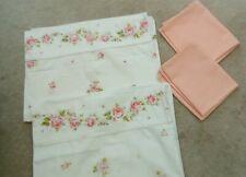 2 Pairs vintage Polycotton  & cotton pillowcases good condition - pinks