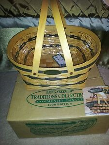 PRICE REDUCED - Longaberger Traditions Collection Community Basket w/Protect 96