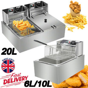 Electric Commercial Deep Fryer Fat Chip Fast Frying Oil Fry Home Stainless Steel