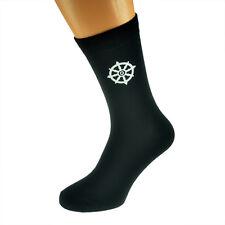 Buddhist Wheel of Dharma Mens Black Socks X6N391