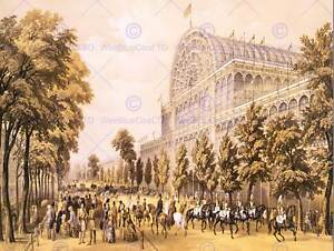 EXHIBITION CRYSTAL PALACE GLASS GREAT VICTORIAN LONDON ART PRINT POSTER CC1167