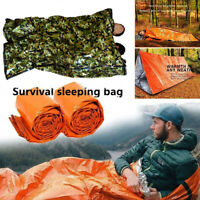Thermal Waterproof Reusable Emergency Thermal Sleeping Bag Survival Blanket Camp