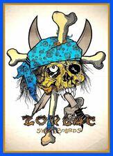 "BIG 6.75"" Zorlac X-bones vinyl sticker. Vintage style skateboard decal for car."
