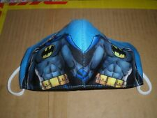 batman kids 3 layer fabric earloop face cover