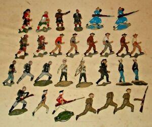 Authenticast, H. Eriksson, lead soldiers, 54 mm figures,  large lot,1940's