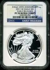 2011-W $1 Proof Silver American Eagle PF70 UCAM NGC 3545330-050 Early Releases