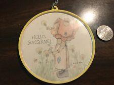 Hallmark Cards Keychain -Springbok -Betsy Clark -vintage 70s -'Hello, Sunshine!'