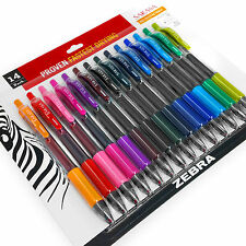 Zebra - Sarasa Retractable Gel Ink Rollerball - 0.7mm - Pack of 14 Ink Colours