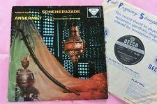 SXL 2086 RIMSKY-KORSAKOV Scheherazade Paris Ansermet Decca Stereo ED1 Wbg LP BB