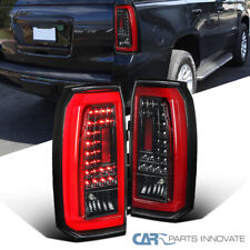 For 15-18 GMC Yukon SUV Pearl Black LED Tail Lights Rear Brake Reverse Lamps