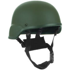 ARMY TACTICAL COMBAT HELMET MICH HEAD PROTECTION FIBERGLASS AIRSOFT OLIVE GREEN