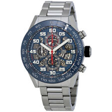 Tag Heuer Carrera Skeleton Blue Dial Automatic Mens Chronograph Watch