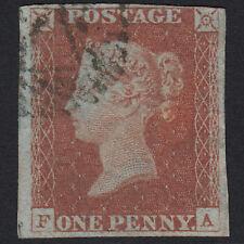 B12 GB QV 1841 1d RED-BROWN PLATE 65 SG8-B1(1) FA FU NR 4 MARGINS