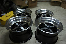"JDM 01 Style 15"" 114.3x4 staggered wheels ae86 datsun ta22 240z Z31 work equip !"