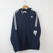 De Colección Adidas Azul Marino Full Zip chaqueta con capucha con capucha | Original | XXL Retro