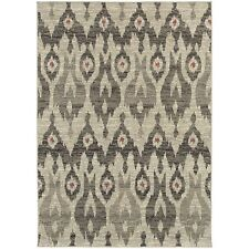 """Oriental Weavers 2444I Highlands Area Rug, Midnight/Ivory, 9'10"""" by 12'10"""