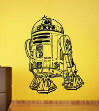 R2-D2 Robot Wall Decal Star Wars Universe Vinyl Stickers Wall Mural Decor 40sw