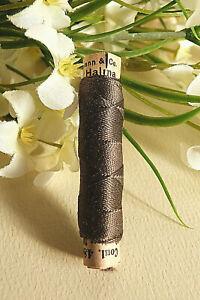 """1266B / Superb Coil Drawstring Silk Gutermann Halma """" Brown """" N° 480"""