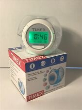 Timex Indiglo Night Color Changing Alarm Clock Wit Soothing Sounds & Temperature