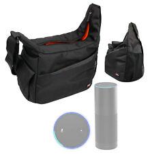 Black & Orange Durable Shoulder Sling Bag for the Amazon Echo / Dot / Buttons
