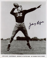 JOHNNY LUJACK SIGNED AUTOGRAPHED 8x10 PHOTO NOTRE DAME FOOTBALL HERO BECKETT BAS