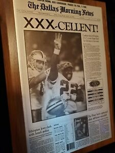 Vintage Dallas Cowboys Superbowl XXX Plaque - 1996 Emmitt Smith