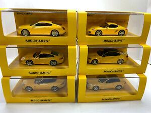 1/43 Minichamps Linea Giallo 6 models Limited Edition 2009pcs