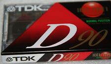 TDK D90 Blank Cassette Tape X5 Audio