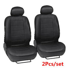 2Pcs Faux PU Leather Black Car Front Seat Cover Cushion For Interior Accessories