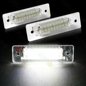 FIT 97-04 PORSCHE BOXSTER 986 WHITE 18-SMD LED 6000K LICENSE PLATE LIGHTS LAMPS