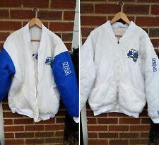 L XL Vintage Orlando Magic Reversable Quilted Throwback Starter Jacket White