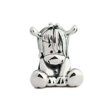 New Cute & Cuddly Pony Horse Sterling Silver Charm Bead S925, Donkey Charm