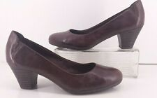 Easy Spirit 360 Coralyn  Brown Leather Heels.  Size 9M