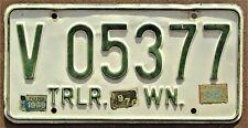 1968/69/70 WASHINGTON Trailer License Plate #V 05377