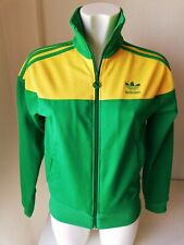 Vintage Adidas Trefoil Full Zip Oregon Ducks Track Field Jacket Retro Rare Sz 38