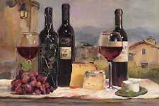 Villa Reds Marilyn Hageman Wine Kitchen Bottle Italy Europe Print Poster 24x36