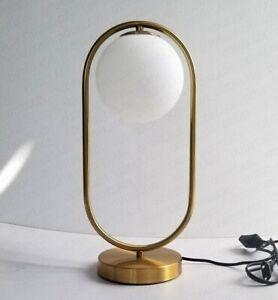 Modern Glass Ball Table Light Bedroom Bedside Reading Desk Lamp Lamparas