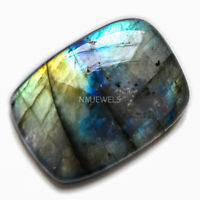Cts. 24.60 Natural Sunset Fire Labradorite Cab Cushion Cabochon Loose Gemstone