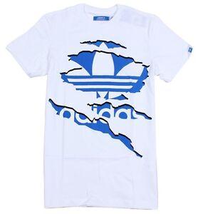 Adidas ASSORTED Cotton TEE Tshirt print Logo Top White or Black XS,S,M,L,XL,XXL