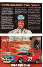1978 RICHARD PETTY / DODGE CHARGER ~ ORIGINAL 2-PAGE GOODYEAR AD
