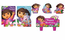 Dora the Explorer Invitations 8 Thank you Cards 8 & Cake Candles Birthday party