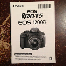*SPANISH* Canon T5 EOS Rebel 1200D User Manual. MINT CONDITION. FREE SHIPPING !